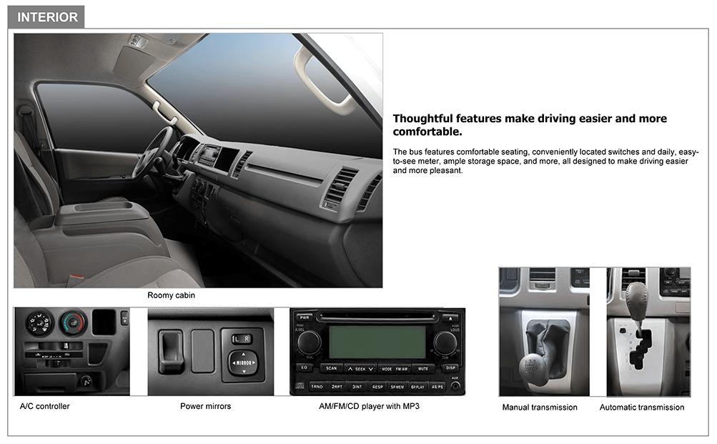 mini-bus J6 interior