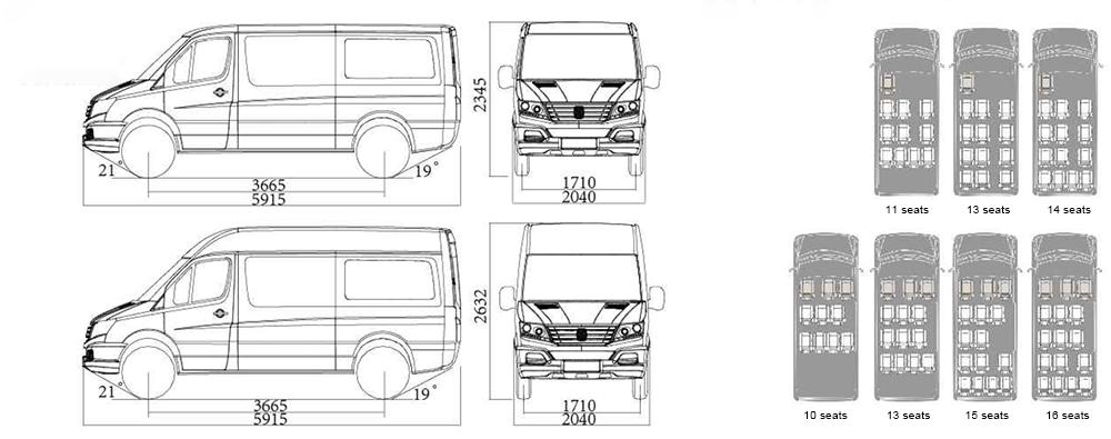 minibus-Y6 length & seater