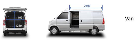 Minivan Carga